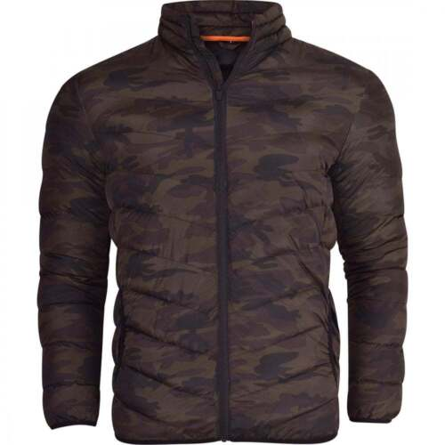 Mens Bubble Coat Quilted Padded Puffer Jacket Outdoor Field Bomber Without Hood