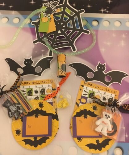 American Girl Doll Halloween Party Play set Bingo Plates Masks Invites Favors