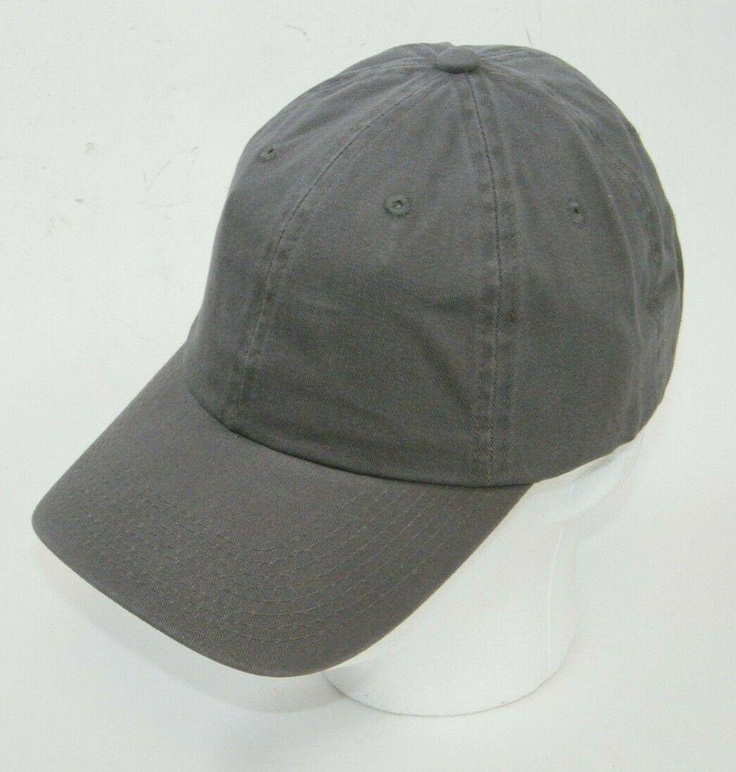 (9) FAHRENHEIT HEADWEAR 508 CAPS / HATS GARMENT WASHED DARK GRAY BUCKLE BACK