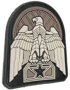 INDUSTRIAL EAGLE 3D PVC BADGE MORALE USA MILITARY SWAT HOOK & LOOP PATCH