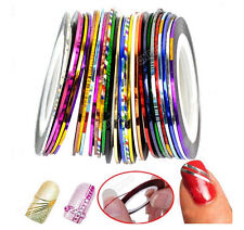 10Pcs Mixed Color Pretty Rolls Striping Tape Line Nail Art Decoration Sticker U