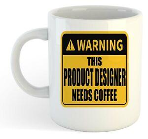 Warning-Este-Producto-Disenador-Necesita-Cafe-Blanco-Taza-Regalo-Trabajo