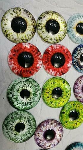 Doll Eye Photo Round Glass Cabochon Flat Back Jewelry Bracelets Making Findings