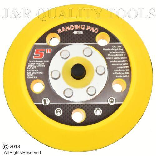 """5/"""" Hook and Loop Face Sanding Pad Air Vacuum Pneumatic Sander Grinder Tool"""