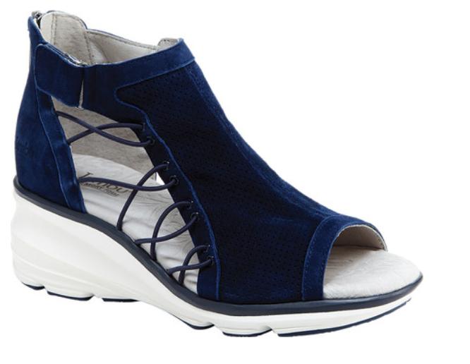 Jambu Naomi Marineblau Keilabsatz Freizeit Sandalen Damen Größe 6-10   Neu
