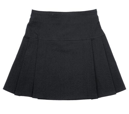 Girls Ladies School Two Pleat Layered Ra Ra Stretch School Work Office Skirt