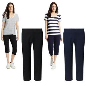 928fbeb36c Image is loading Marks-amp-Spencer-Womens-Cropped-Jogging-Bottoms-M-