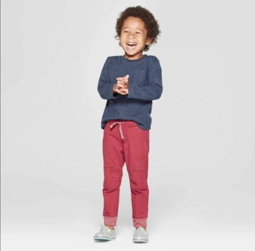 Cat /& Jack™ Navy 4T Toddler Boys/' Tonal Strip Long Sleeve T-Shirt with Pocket