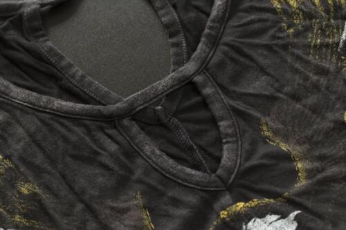 shirt T Ramparts Affliction Schwarz Damen Ac gZfPS