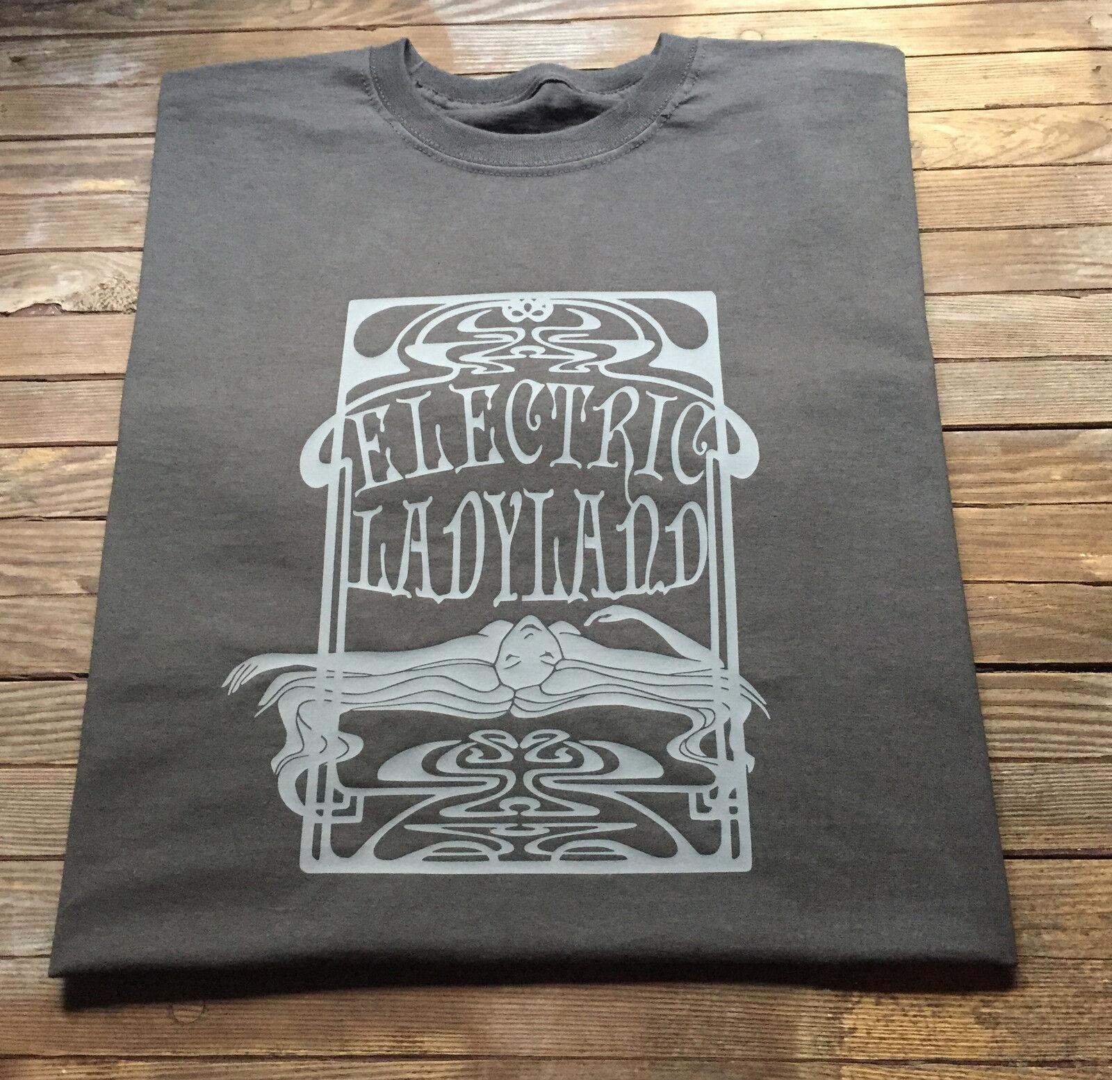 Jimi Hendrix t shirt Electric Ladyland Classic Rock Guitare psychédélique psychédélique Guitare Style e8aed0