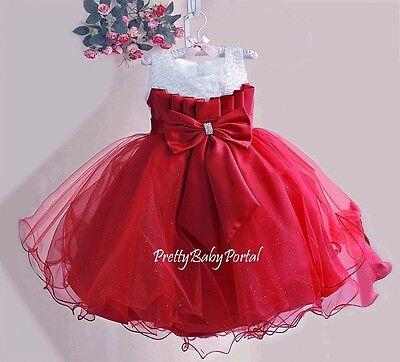 NEWGIRLSBaby ToddlerKid'sGorgeous Sequins  Pageant Party Wedding TUTU Dress
