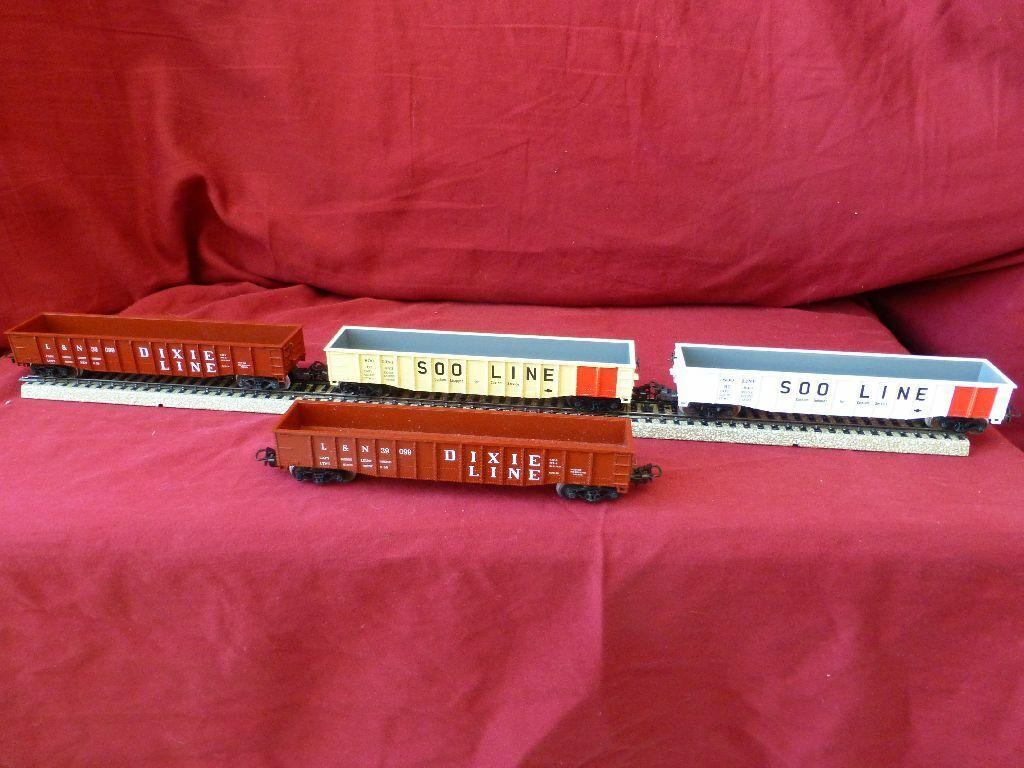 4 autos Marklin 2 x 4575  e 2 x 4774  Freight auto AC 3rail HO H0 original scatola