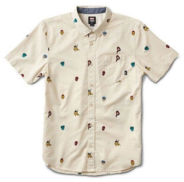 e29740e0bd4 Vans x Marvel Houser Super Hero Button Up Short Sleeve Mens SZ L New! ""