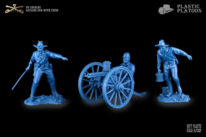 Plastique peloton US CAVALRY MITRAILLEUSE GATLING avec équipage 1:32 toy soldiers