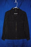 Women's  OLD NAVY Black Gray Checkered Zip Up Jacket Size S