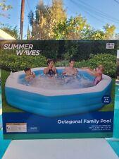 Summer Waves 10FT OCTAGONAL FAMILY POOL