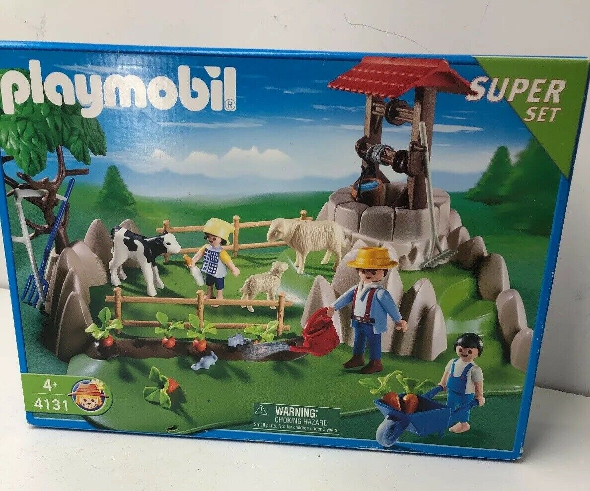 NEW Playmobil 4131 Country Life Super Set Farm RARE HTF NISB Aninals