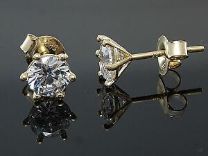 585-Gold-Ohrstecker-mit-6-Krappen-1-Paar-6-mm-Groesse-mit-Zirkonia-Steinen
