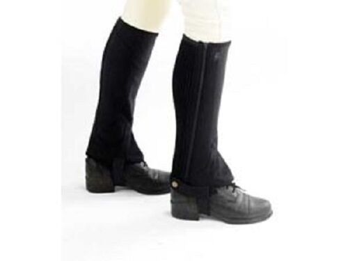 HY CLARINO HALF CHAPS FOR HORSE RIDERS SOFT STRETCHY FAUX SUEDE COMFORTABLE FIT