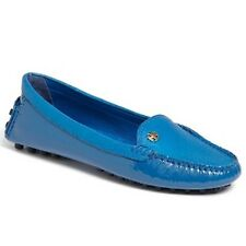 $275 NIB Tory Burch Arianna Blue Leather Driving Loafers Shoes 7