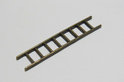 50 x 9mm D024...BRONZE MINIATURE LADDER FOR A DOLLS HOUSE LIBRARY ETC