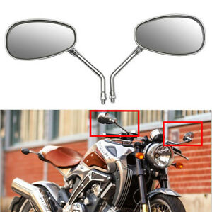 Chrome-10mm-Rearview-Mirrors-4-Honda-Shadow-Rebel-250-Nighthawk-VT-VTX-1300-1800