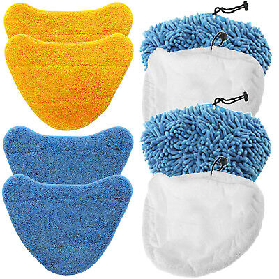 2 x Vax Bare Floor Pro S2S-1 Steam Cleaner Compatible Microfibre Mop Cloth Pads