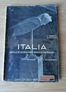 ITALIA-Corso-Storia-Ginnasi-Inferiori-1936-Fascismo-Ventennio-Mussolini-Impero