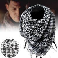 Arab Shemagh Keffiyeh Military Tactical Palestine Scarf Shawl Wrap Hot Balck TR