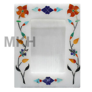 Real-Marble-Photo-Frame-Inlay-Gem-Stone-Picture-Frame-Marquetry-Vintage-Design
