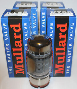 Details about Factory Platinum Matched Quad Mullard KT88 Reissue tubes,  Brand NEW in Box !