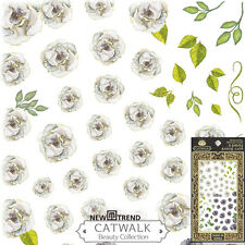 Rose Flower Floral Nail Art Stickers Manicure Decals USA SELLER FAST SHIP
