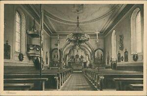 Ansichtskarte Bernau Inneres der Kirche 1938  (Nr.970)