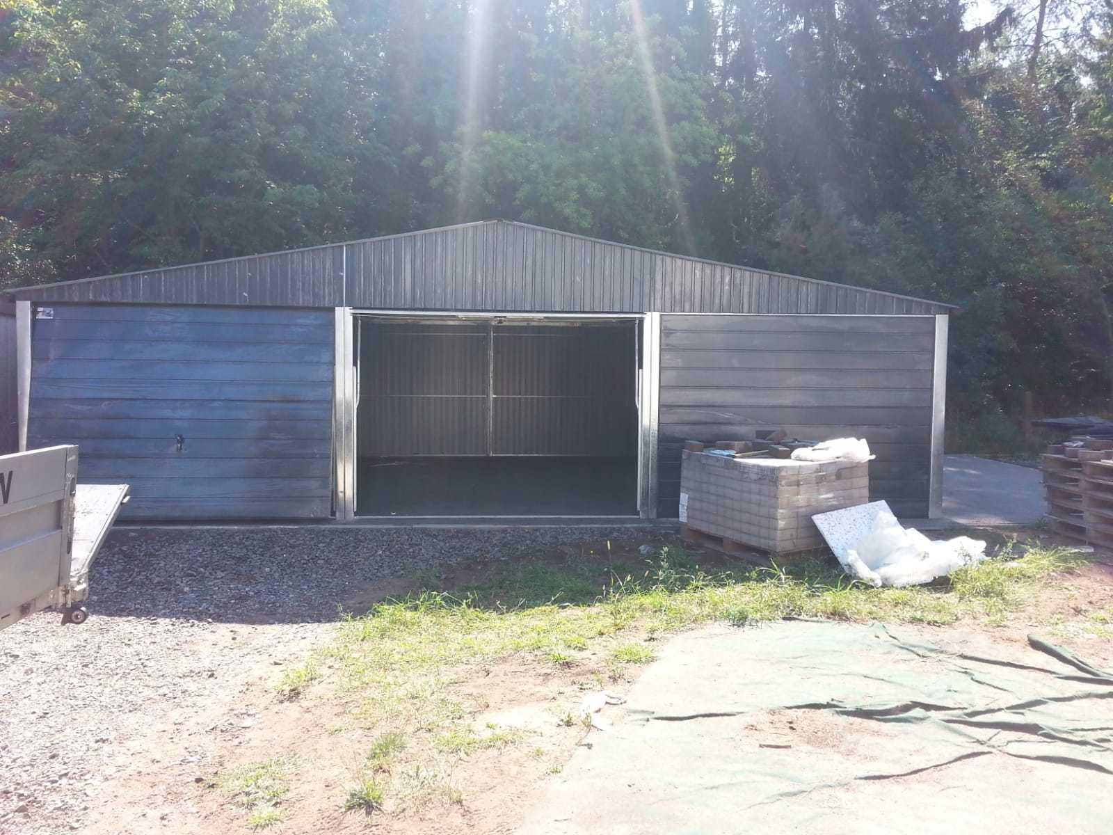 Blechgarage Garage Schuppe Stahlhalle 9 x 6R7016 Garagen verzinkte Konstruktion