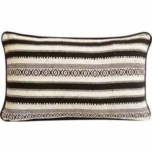 Decorative Black White 12x16 Inch Lumbar Pillow Cover Wool Moroccan Ceramics Ebay