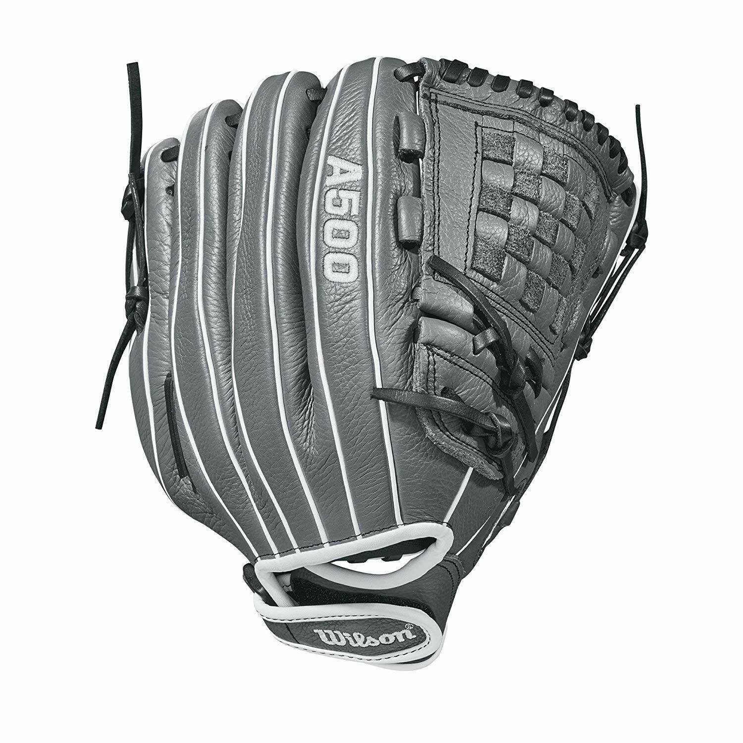 Wilson A500 Sirena Fastpitch Softball guante 12in LHT Grafito gris