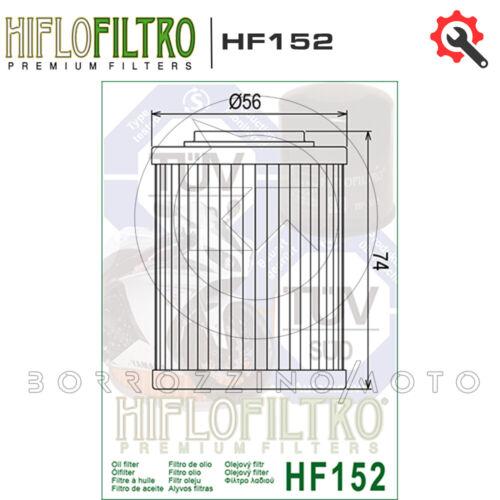 FILTRO OLIO HIFLO HF152 TIPO ORIGINALE PER APRILIA RSV R TUONO 1000 2004 2005