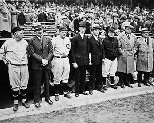 825b2e67bd5789 1929 World Series CUBS vs ATHLETICS Glossy 8x10 Photo Babe Ruth Ty ...