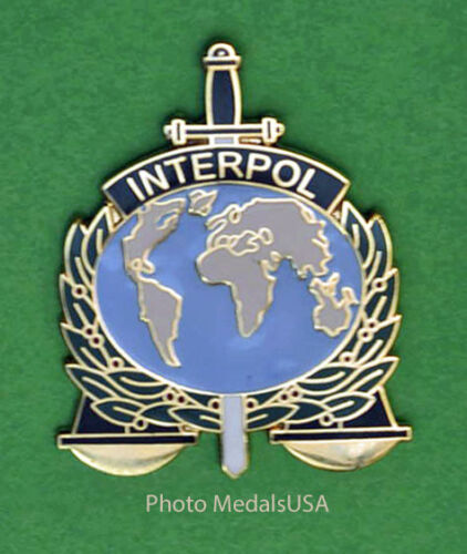 INTERPOL INTERNATIONAL CRIMINAL POLICE ORGANIZATION PIN