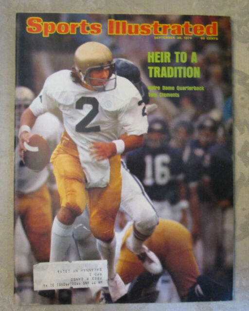 Sports Illustrated September 30, 1974 Heir To A Tradition Notre Dame Football