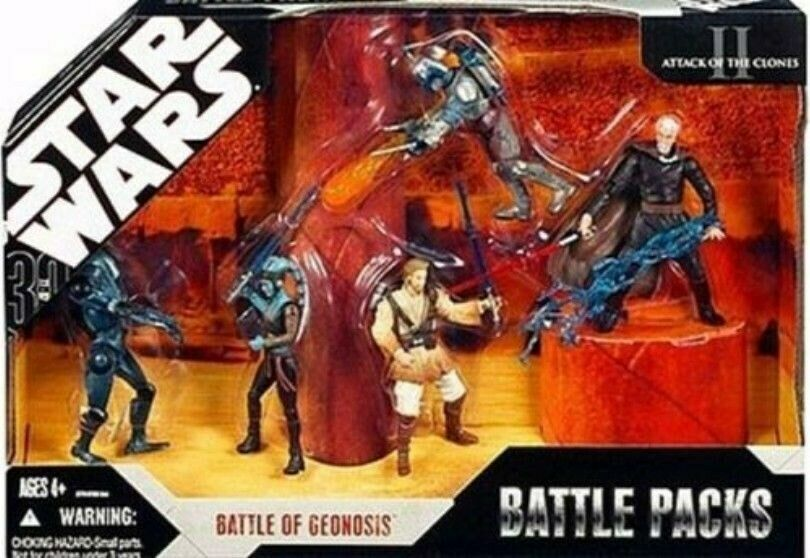 STAR WARS BATTLE OF THE GEONOSIS BATTLE PACK BRAND NEWIN BOX  RARE