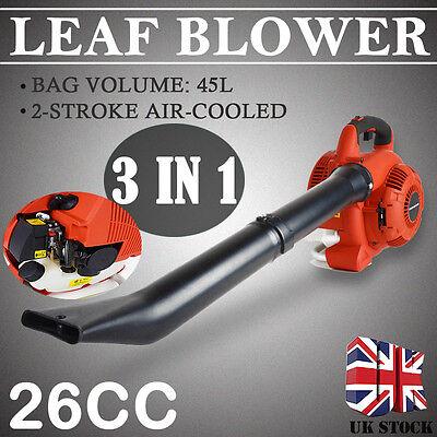 3 in 1 Petrol Leaf Blower Vacuum Shredder Gas Powered Shredding Garden New