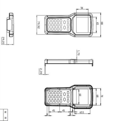 1pc 207*103*37mm plastic handheld enclosure control box plastic case