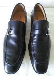magnanni black loafers