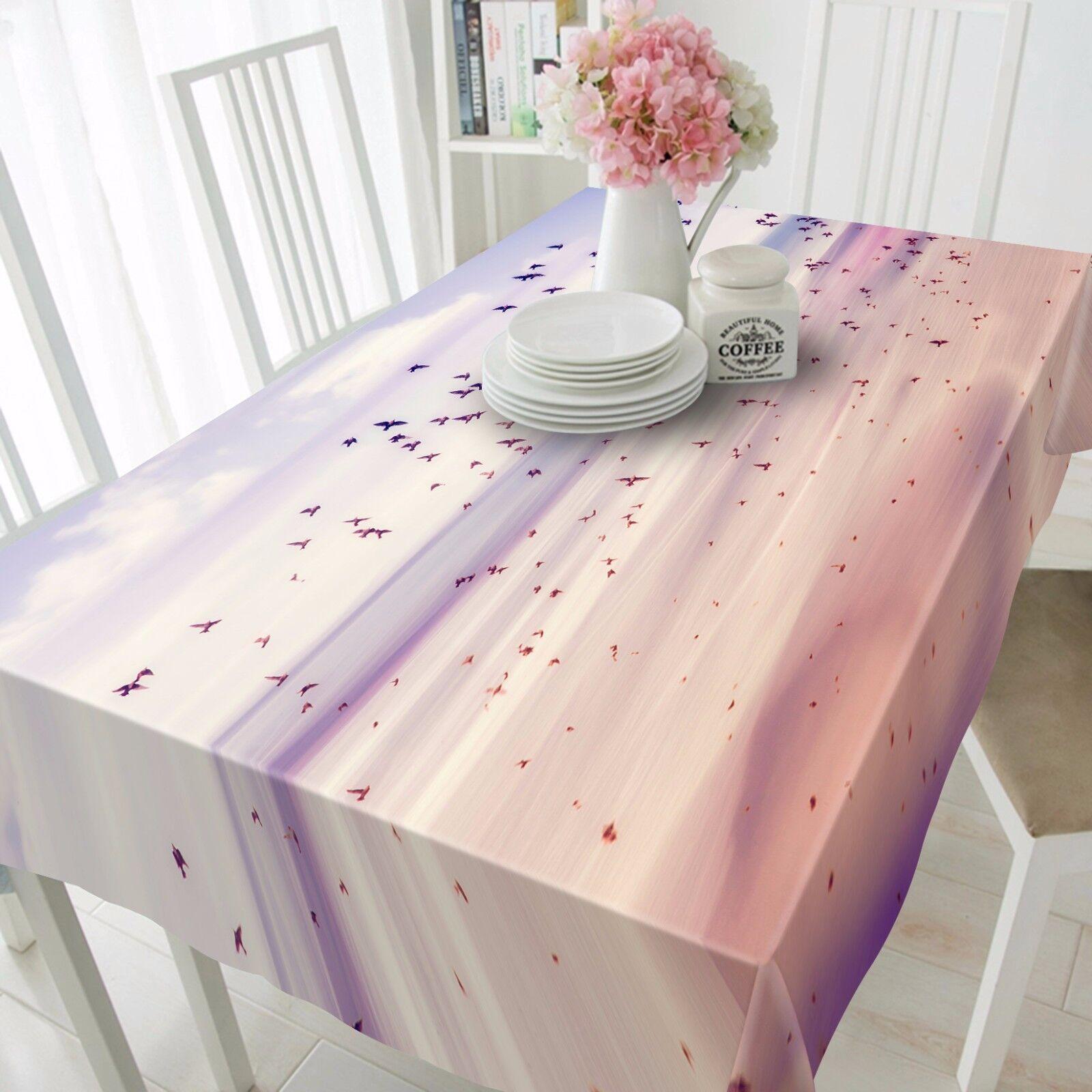 3D Fly Birds Nappe Table Cover Cloth fête d'anniversaire AJ papier peint Royaume-Uni Citron
