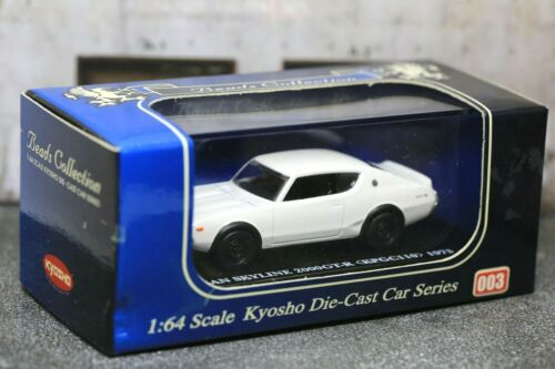 Details about  /Kyosho 1//64 Nissan Skyline 2000GT-R 1973 KPGC110 No.003 White