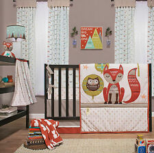 Clever Fox Forest Friend Owl Neutral Crib Baby Bedding Set by Little Haven