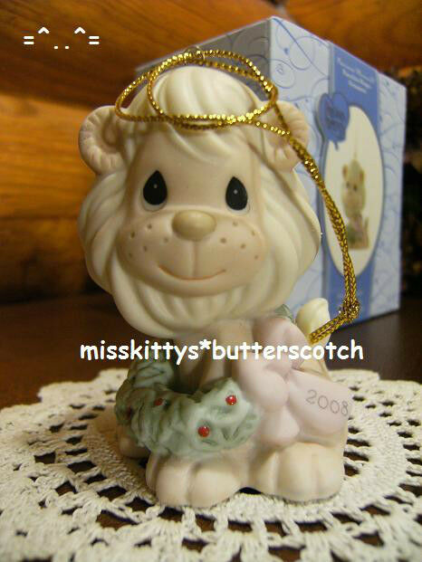 Precious Moments~ORNAMENT~DATED 2008~PEACE Be Within You~810007~Lion w Wreath