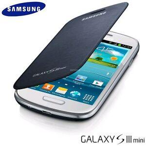 wholesale dealer 8e09c de404 Details about New OEM Samsung Galaxy S3 III Mini Flip Cover Folio Case