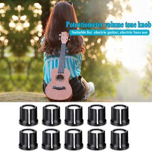 10Pcs-6mm-D-Shaft-Hole-Knobs-Aluminum-Potentiometer-Pot-Knobs-fr-Electric-Guitar